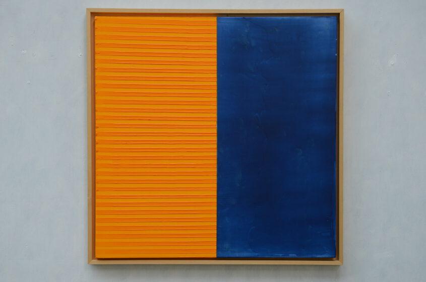Farbfeldmalerei in blau und gelb