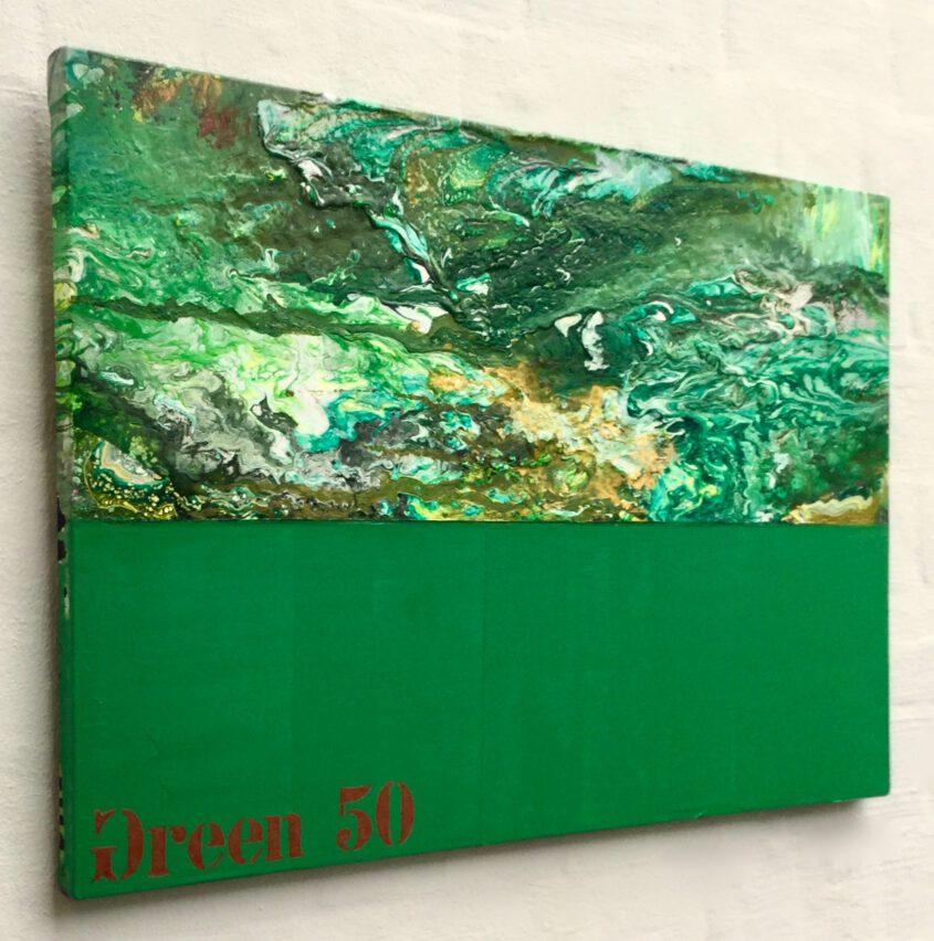 Malerei in grün von Thomas P. Kausel