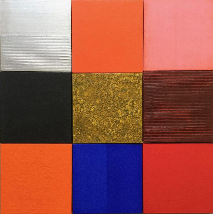 Color field painting inspiriert von Josef Albers