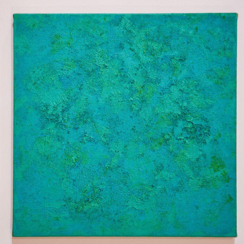 Abstrakte Malerei in grün