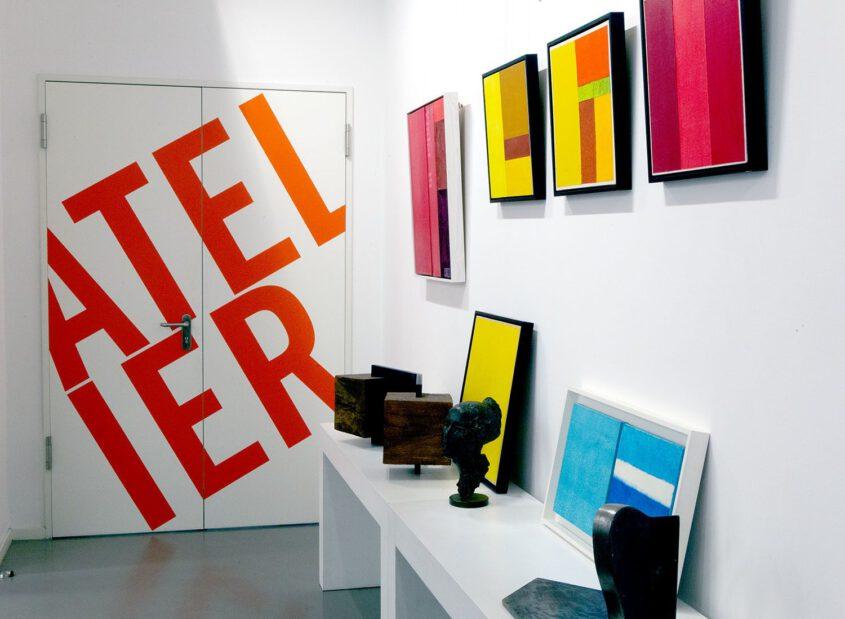 Farbfeldmalerei, color field painting, monochrome Malerei in der Artothek